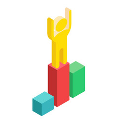 isometric winner on white vector image