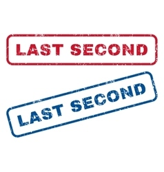 Last second rubber stamps vector
