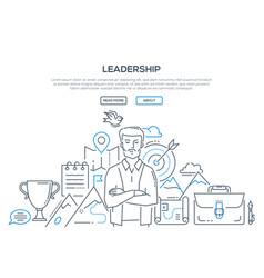 Leadership - modern line design style vector