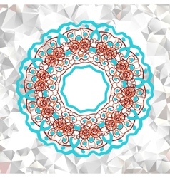 Mandala element with abstract pattern vector image vector image