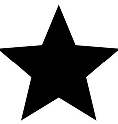 Minimalistic black star icon template vector image vector image