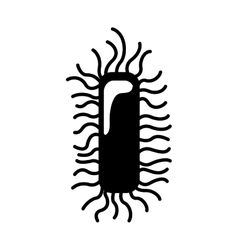 Monochrome silhouette with bacteria or virus vector