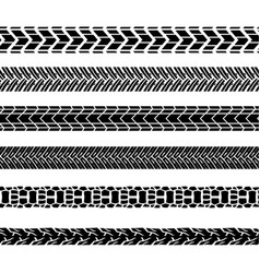 Motorcycle tire tracks vector