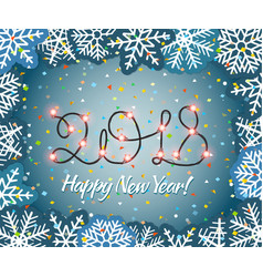 new year background with garland new year vector image vector image
