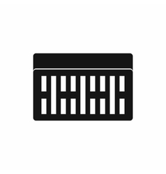 One building brick icon simple style vector image
