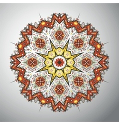 Ornamental round geometric pattern in latin vector