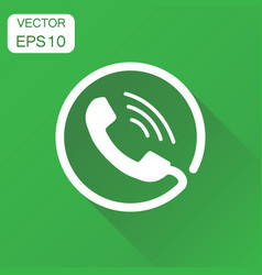 Phone icon business concept contact support vector