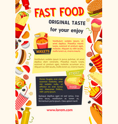 Poster for fast food restaurant vector