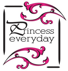 Princess everyday vector