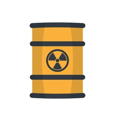 Radioactive barrel vector image
