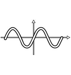 Sinewave black color icon vector