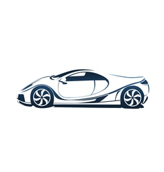 Speedy racing sport car vector image vector image