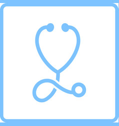 stethoscope icon vector image vector image