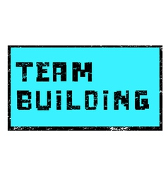 team building pixel stamp vector image vector image