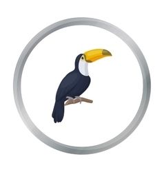 Toucan icon in cartoon style isolated on white vector image vector image