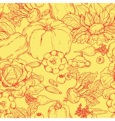 Vegetables pattern vector