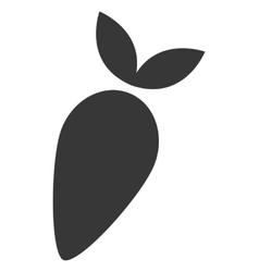 Whole turnip icon silhouette vector