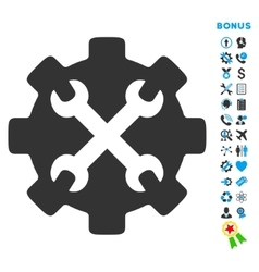 Service tools flat icon with bonus vector