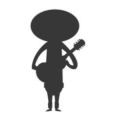 mariachi musician icon silhouette vector image
