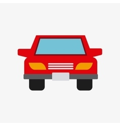 Auto car vehicle isolated icon vector