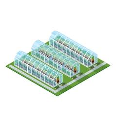Greenhouses isometric location vector