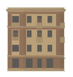 The facade of the building vector