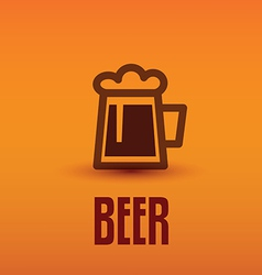 Traditional beer cup symbol vector