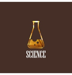 With laboratory equipment icon science concept vector