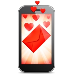Mobile love letter vector