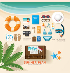 Infographic travel planning a summer vacation vector