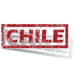 Chile outlined stamp vector