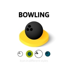 Bowling icon in different style vector