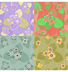 Floral combinations seamless vector