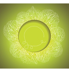 Spring background with grass and flowers petals vector