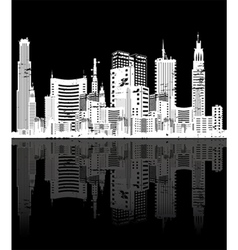 Vintage city background vector