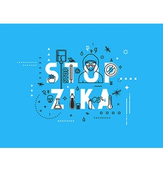 Design concept epidemic of stop zika virus vector