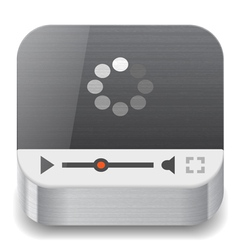 Icon for streaming media vector