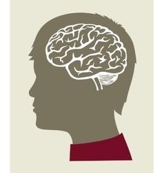 Black brain icon vector