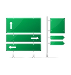Blank green Road Sign vector image vector image