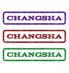 Changsha watermark stamp vector