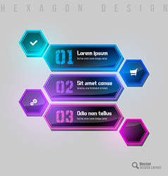 Colorful hexagon vector