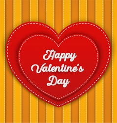 Double red heart with Happy Valentines Day word vector image vector image