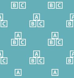 education abc blocks pattern seamless blue vector image