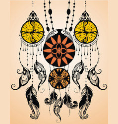 ethnic dreamcather on arrow vector image