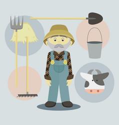 Farmer isolated vector