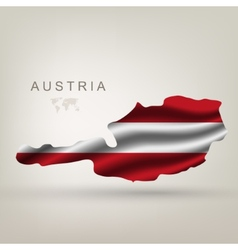 Flag of austria as the country vector