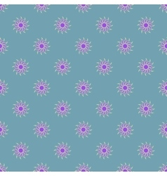 Flowers geometric seamless pattern 3908 vector image
