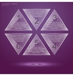 Glass triangle infographic 2 vector