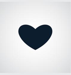 Heart icon simple love valentine sign vector