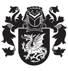 Heraldic silhouette no35 vector